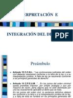 1. Interpretaci�n e Integraci�n