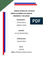 Criterio de Areas Iguales
