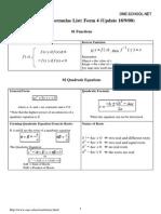 SPM Add Maths Formula List Form 4