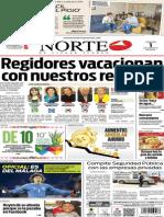 Periódico Norte edición del día 1 de agosto de 2014