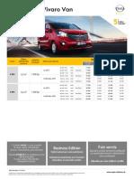 Opel Vivaro Van- Cenník Júl 2014