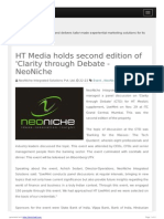 HT Media Holds Second Edition-NeoNiche