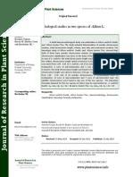 Karyomorphological Studies in Two Species of Allium L.