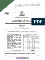 Biology Paper 2,3 Trial SPM 2013 MRSM Gr
