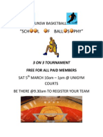 3on3 Flyer & Rules