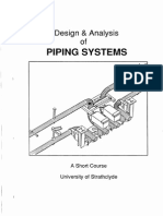 Design and Analysis of Piping Systems