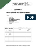 Procedimiento Construccion Terraplen de Prueba y Presa de HCR