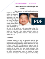 What is the Treatment for Cleft LipCleft Palate