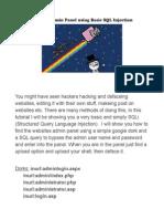 Hack Website's Admin