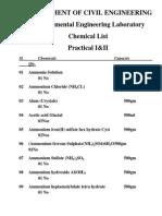 Chemicals List
