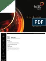 IWSC2013 Spirit Results
