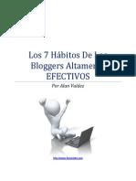Los 7 Habitos de Los Bloggers Altamente EFECTIVOS