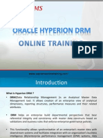 Hyperion DRM Online Training   Oracle Hyperion DRM Online Training   Hyperion DRM Online Course  