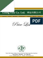 Leung Yick Price List (1 July 2014)