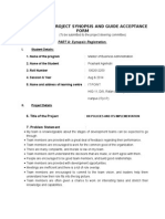 Prashant Synopsis and Guide Acceptance Form