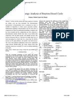 Brayton Desiel Second Law Analysis