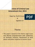 Criminal Law Amendment 2013