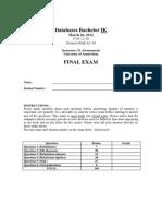2012 Final Exam