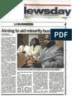 MWBE Newsday Article