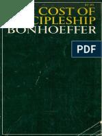The Cost of Discipleship - Bonhoeffer