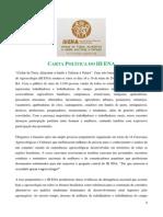 Carta Politica Do III ENA