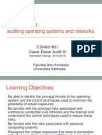 Ch03-Security Part 1. Auditing Operating Systems and Networks
