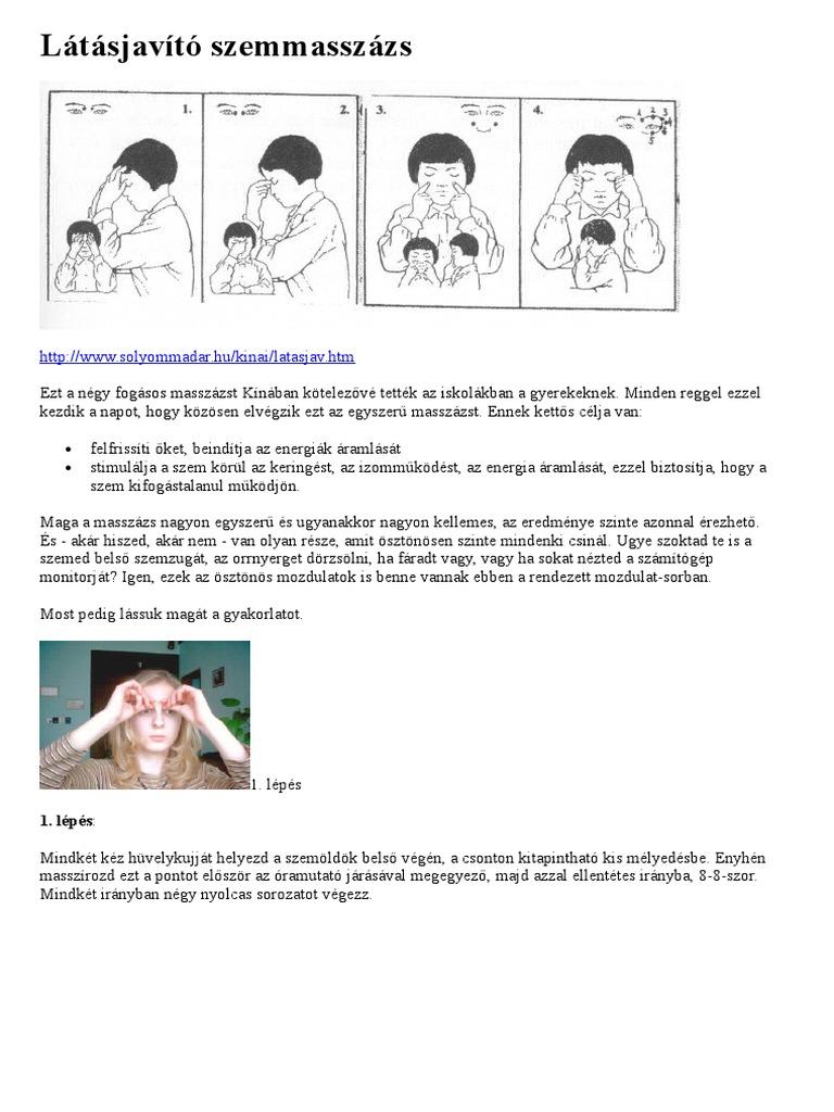 látásjavító tréning komplex látásromlás