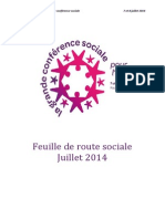 Feuille de Route Grande Conference Sociale 2014