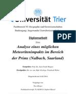 Strong shock metamorphism establishes meteorite impact in the Saarland (West Germany)