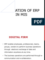 Application of ERP in MIS