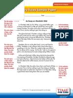 Literary Essay Sampler for Charlottes Web