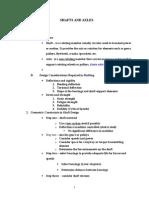 Design consideration of Shaft