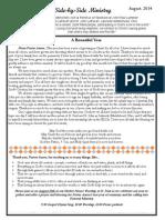 Newsletter August 2014