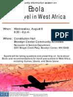 MDH Ebola Community Information Session Flyer