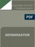 Refrigeration System Terms
