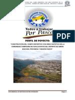 Perfil Del Proyecto Campo Deportivo Con Gras Sintético - Simón Bolivar - Pasco