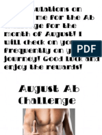 August Abs Challenge