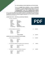 Informe Pericial de Valorizacion de Bienes Muebles Ronald