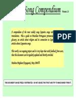 Capoeira Song Compendium Version 1.0 International