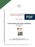 Fiche Lecture Gouvernance Des Biens Communs