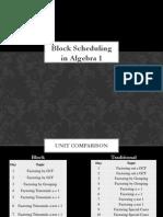 Block Scheduling in Math