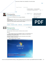 Problema Para Iniciar o Windows 7