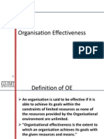 X Ogansiational Effcetiveness