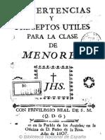 Clase de Me No Res Puebla 1807