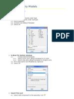 ProEngineer Tutorial - Assembly Models
