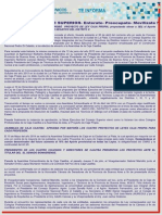 Noticia, Hechos de Consejo Superior Por Disolución Caaitba