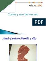 Presentacion Cortes y Uso Del Vacuno