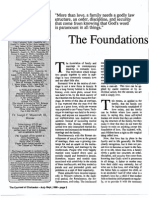 1989 Issue 7 - The Foundations of the Family - Counsel of Chalcedon