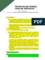 Presentación de los niveles comunes de referencia