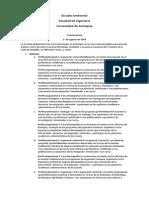 Convocatoria Docentes Ocasionales Escuela Ambiental